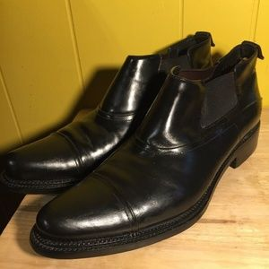 Prada Leather Chelsea Ankle Boots Black Size 9.5